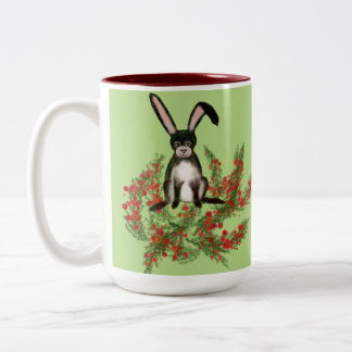 Rabbit Two-Tone Coffee Mug