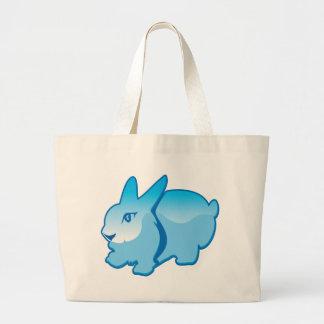 Rabbit vector large tote bag