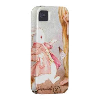 Rabbit Vintage Alice In Wonderland iPhone Case-Mate iPhone 4 Cases