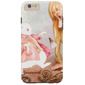 Rabbit Vintage Alice In Wonderland iPhone Tough iPhone 6 Plus Case