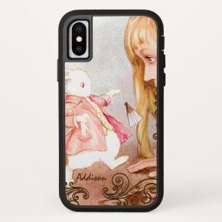 Rabbit Vintage Alice In Wonderland iPhone X Case