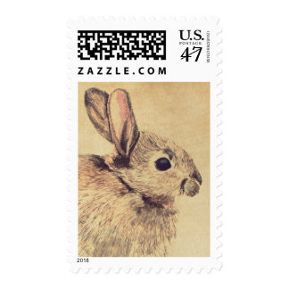 Rabbit Watercolor Sketch Custom Postage