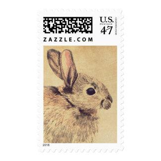Rabbit Watercolor Sketch Custom Postage