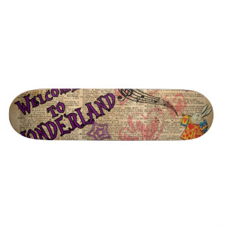 Rabbit Welcome To .. Alice In Wonderland Skateboard Deck