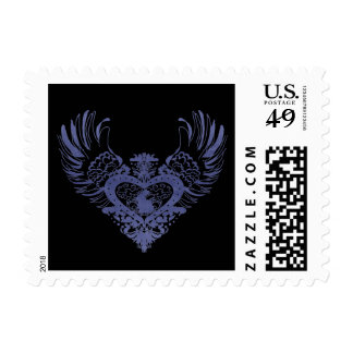 Rabbit Winged Heart Stamp