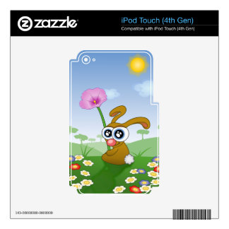 Rabbit with Big Eyes sitting on Field Decals For iPod Touch 4G