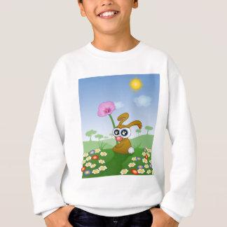 Rabbit with Big Eyes sitting on Field Sweatshirt