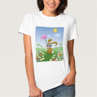 Rabbit with Big Eyes sitting on Field T-Shirt