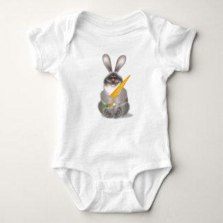 Rabbit With Carrot Baby Bodysuit