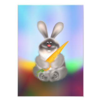 Rabbit with Carrot Photograph
