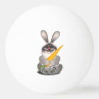 Rabbit with Carrot Ping-Pong Ball
