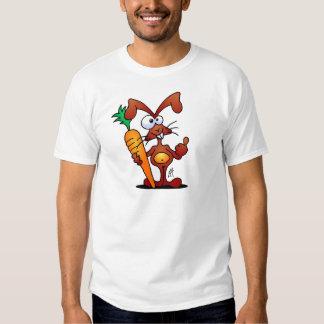 Rabbit with carrot tee shirt