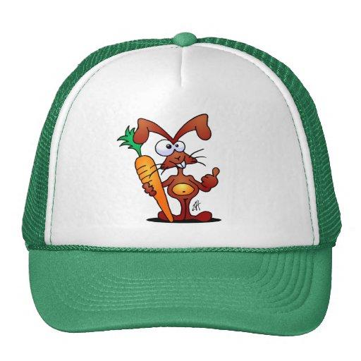Rabbit with carrot trucker hat