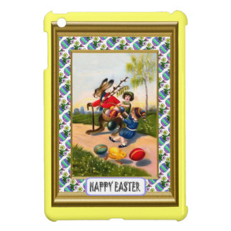 Rabbit with children and eggs cover for the iPad mini