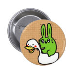 Rabbit with duck button