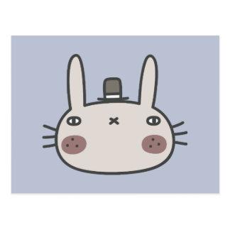 Rabbit With Hat Postcard