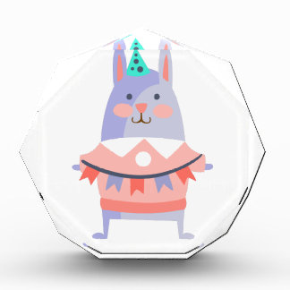 Rabbit With Party Attributes Girly Stylized Funky Award
