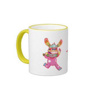 Rabbit with Rocket Ringer Mug
