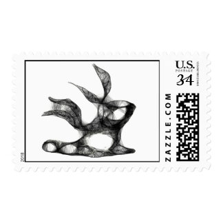 Rabbit with Scarf Postage