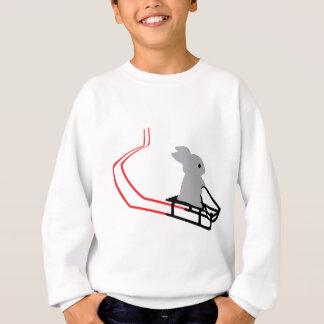 rabbit with toboggan icon sweatshirt