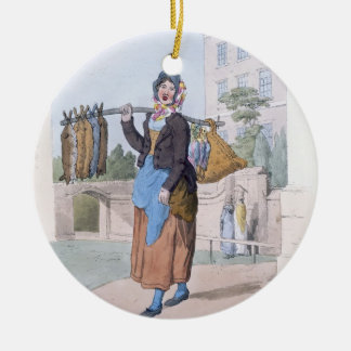 Rabbit Woman, from 'Costume of Great Britain', pub Ceramic Ornament