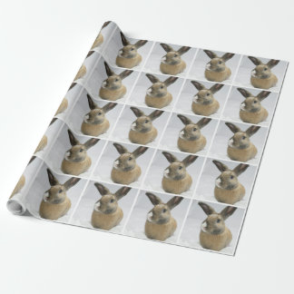 Rabbit wrapping paper Honeybadger Bunny