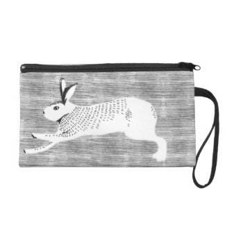 rabbit wristlet purse