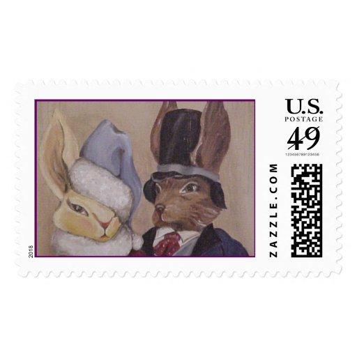 RabbitCouple1 Postage Stamps