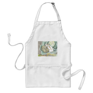 Rabbits and cabbage adult apron