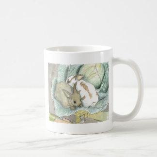 Rabbits and cabbage mug