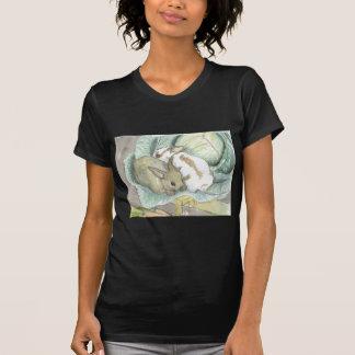 Rabbits and cabbage tee shirts