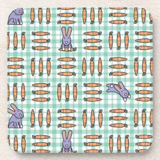 Rabbits and Carrots Beverage Coaster