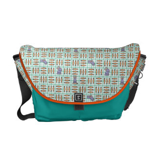 Rabbits and Carrots Courier Bag