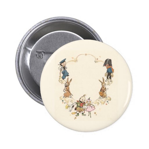 Rabbits and Children's Characters 2 Inch Round Button