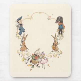 Rabbits and Children's Characters Mouse Pad