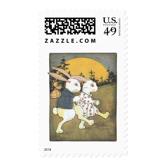 Rabbits and Rising Sun Postage