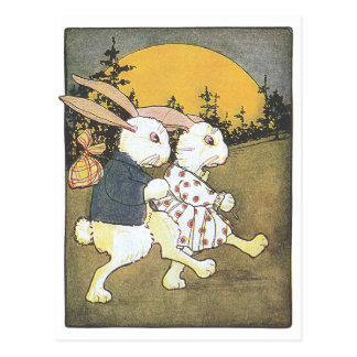 Rabbits and Rising Sun Post Cards