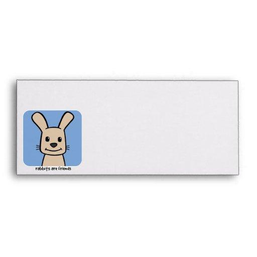 Rabbits Are Friends Envelope