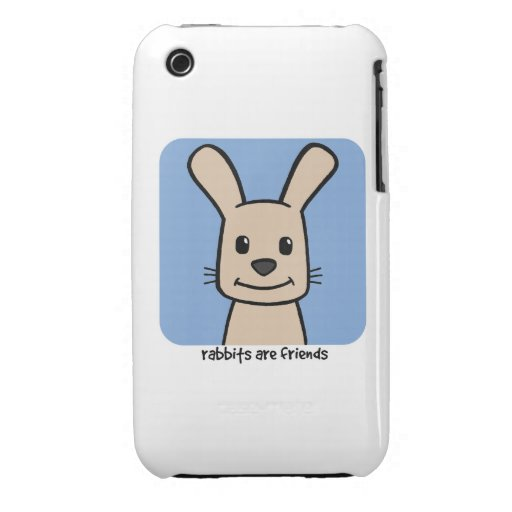 Rabbits Are Friends iPhone 3 Case-Mate Case