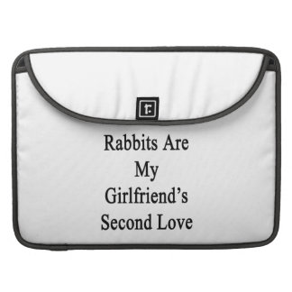 Rabbits Are My Girlfriend's Second Love Sleeve For MacBook Pro