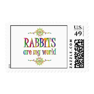 RABBITS are my world Postage Stamp