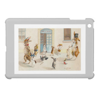 Rabbits at School by Maurice Boulanger iPad Mini Covers