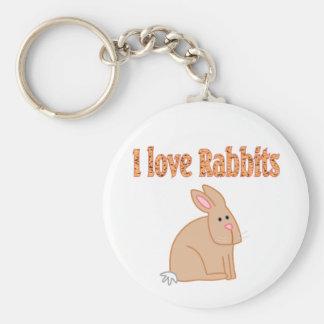 Rabbits Basic Round Button Keychain