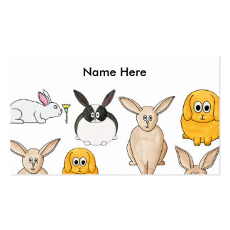 Rabbits. Business Card