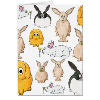 Rabbits. Card