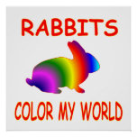Rabbits Color My World Print