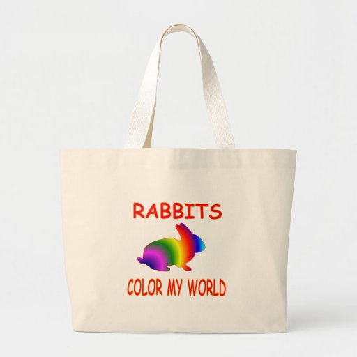 Rabbits Color My World Tote Bags