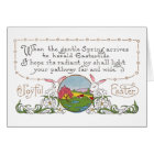 Rabbits, Colorful Spring Scene and Easter Couplet Card