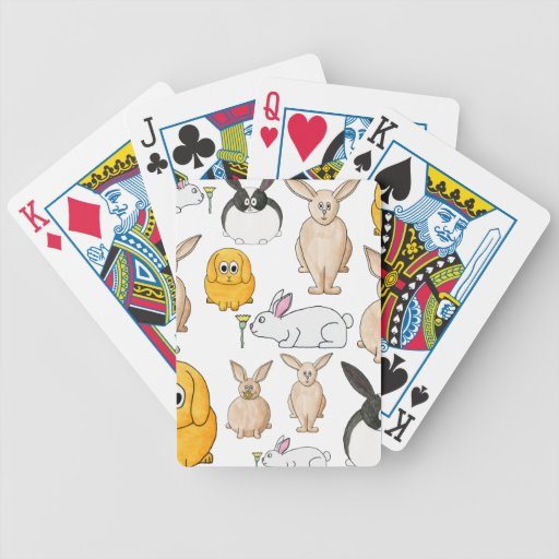Rabbits. Deck Of Cards
