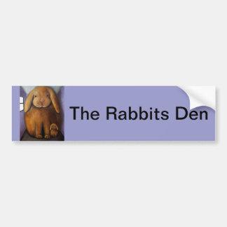 Rabbits Den Bumper Stickers